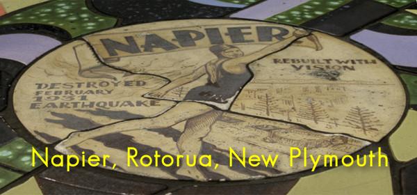 Napier, Rotorua, New Plymouth